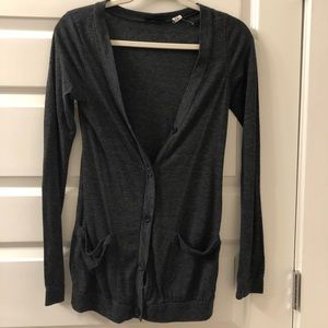 BDG Urban Outfitters Dark Gray Pocket Cardigan
